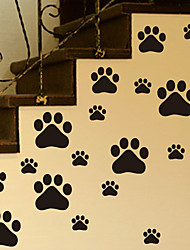 Dog Footprints Wall Stickers Decorative Wall StickersVinyl Material Removable Home Decoration Wall Decal