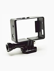 Accessoires pour GoPro,Cadre Souple Résistant à la poussière, Pour-Caméra d'action,Gopro Hero 3 Gopro Hero 3+ Gopro Hero 4 Silver
