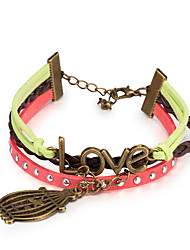 Women's Wrap Bracelet Leather Bracelet Bracelet Loom Bracelet Leather Alloy Punk Rainbow Jewelry 1pc
