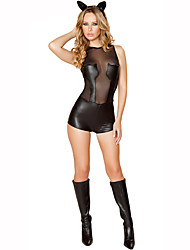 Cosplay Costumes Party Costume Career Costumes Bunny Girls Festival/Holiday Halloween Costumes Black Print Leotard/Onesie Headwear