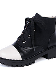 Women's Boots Winter Others Dress / Casual Low Heel Slip-on Black / Blue / Red Others