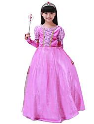 Costumes de Cosplay Princesse Fête / Célébration Déguisement Halloween Violet Couleur Pleine Jupe Noël Enfant