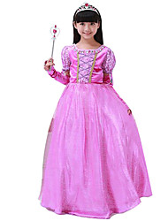 Cosplay Costumes Princess Festival/Holiday Halloween Costumes Purple Solid Skirt Christmas Kid