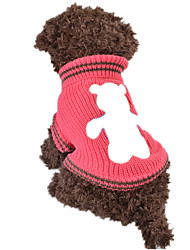 Dog Sweater Yellow / Green / Rose Dog Clothes Spring/Fall Cartoon Keep Warm