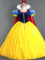 Cosplay Costumes/Party Costumes Fairytale Charming Snow Princess Satin Halloween Female Princess Dress Costumes