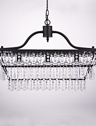 MAX60W Chandelier   Traditional/Classic Painting Feature for Crystal Metal Dining Room / Study Room/Office / Entry