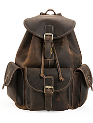 The British School of air travel leisure leather backpack
