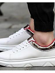 Herren-Sneaker-Lässig-PUKomfort-Schwarz / Rot / Gold