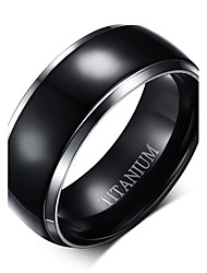 Ring Daily Jewelry Titanium Steel Men Band Rings 1pc,One Size As Per Picture