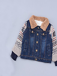 Unisex Casual/Daily Patchwork Jacket & Coat,Cotton Winter Long Sleeve
