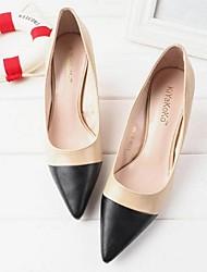 Damen-High Heels-Lässig-PUKomfort-Braun / Mandelfarben
