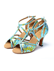 Non Customizable Women's Dance Shoes Synthetic Synthetic Latin / Jazz Sandals / Heels Stiletto Heel Professional / Indoor / Performance