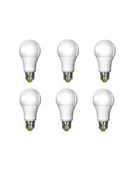 E26/E27 Ampoules Globe LED A60(A19) 1 COB 1160 lm Blanc Chaud AC 100-240 V 6 pièces