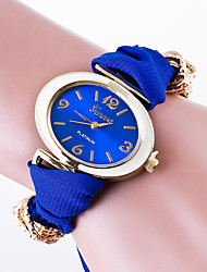 Women's Casual Wrist Watch  Ladies Quartz Generva Brecelet Watch Fabric Band With Special Oval Watch Reloj Mujer