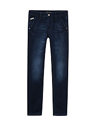 Metersbonwe  Men's  Solid Blue Jeans PantsStreet chic Winter