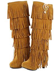 Mujer-Tacón Stiletto-Gladiador-Botas-Vestido / Casual / Fiesta y Noche-Piel-Negro / Amarillo / Rojo / Marrón Café