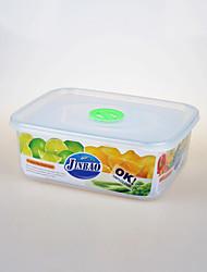 récipient alimentaire transparent rectangulaire avec trou de vis 1.9liter