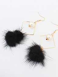 Drop Earrings Pearl Imitation Pearl Alloy Fashion White Black Gray Red Jewelry Daily 1 pair