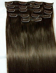 8Pcs/set  24#2 Remy Human Hair Extensions Hair Extension Type Human Hair Extensions