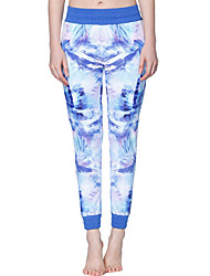 Yoga Pants High High Elasticity Sports Wear Blue Women's Yoga