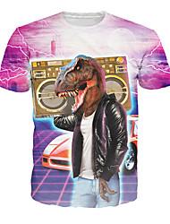 Feste/vacanze Costumi Halloween Rose Con stampe Top T-shirt Uomo