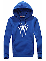 Men's Casual Daily Sports Spider Prints Round Neck Cotton Long Sleeve Hip Hop Loose Coat Hooded Sweater