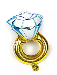 Ballons Urlaubszubehör Diamant Aluminium Blau Gold Für Jungen Für Mädchen 5 bis 7 Jahre