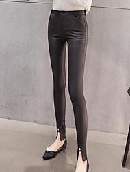 Femme Polyuréthane Legging,Polyuréthane Velours