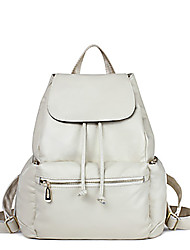 Women Cowhide Casual Backpack White / Blue / Black