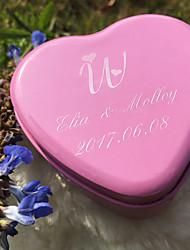 6 Шт./набор Фавор держатель-В форме сердца Металл Коробочки Горшки и банки для конфет Подарочные коробки Имя, надпись на заказ