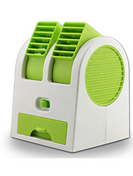 Creative USB Battery Dual - Use Air - Conditioning Mini Fan - Green