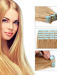 extensões de cabelo fita 7a 20pcs / lot pele fita Remy trama de seda brasileiro do cabelo 100% cabelo humano trama virgem reta