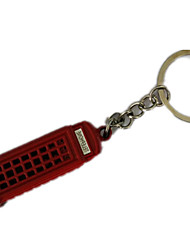 Key Chain Cylindrical Key Chain Red Metal