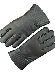 Men'S Leather Gloves Winter And Thick Warm Touch Screen Warm Touch Screen Gloves To Ride A Motorcycle