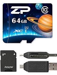 ZP 64Go MicroSD Classe 10 80 Autre Multiple dans un lecteur de carte Micro sd lecteur de carte Lecteur de carte SD ZP-1 USB 2.0