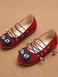 Girl's Flats Comfort Suede Casual Pink Red