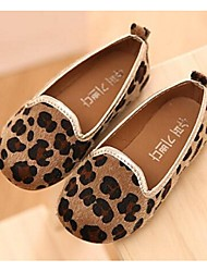 Girl's Loafers & Slip-Ons Comfort PU Casual Brown / Animal Print