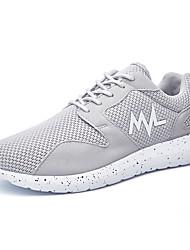 Femme-Décontracté / Sport-Noir / Bleu / Gris-Talon Plat-Confort-Chaussures d'Athlétisme-Tulle