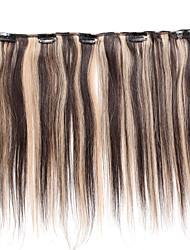 5 clips clip 18inch dans les extensions de cheveux humains 41g a mis en évidence les cheveux raides