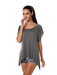 aliexpress Europa und die neue Rundhals Kurzarm Raglan-T-Shirt mit unregelmäßigen Rand Frauen&# 39; s Außenhandel