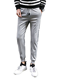 Men's Plus Size Slim / Skinny Chinos / Sweatpants Pants,Casual/Daily / Sports Simple / Street chic / Active Solid Low RiseDrawstring /