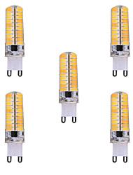 7W G9 Lâmpadas Espiga T 80 SMD 5730 500-700 lm Branco Quente / Branco Frio Regulável / Decorativa V 5 pçs