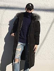 Original 2-color 4 yards fur collar new Korean winter long section down cotton knee couple thick coat jacket
