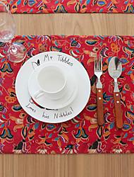 Quadrada Estampa / Mosaico de Retalhos Marcadores de Lugar , Mistura de Algodão Material Hotel Mesa de Jantar / Tabela Dceoration