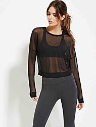 2016 automne femme nouvelle perspective sexy gaze courte mode paragraphe t-shirt à manches longues sauvages