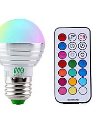 YWXLight® Dimming E27/E26 5W SMD RGBW 300 LM  LED Ball Bulb  AC 85-265V