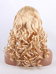 Natural Body Wave Light Blonde 613# Brazilian Virgin Remy Hair Full Lace Wigs