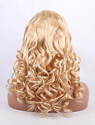 естественное тело волны света блондинка 613 # бразильские Remy девственницы волосы полные парики шнурка