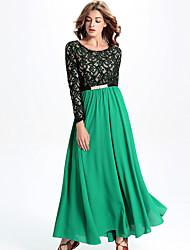 Autumn and winter in Europe and America brand ladies' big yards net yarn chiffon dress skirt to the dress