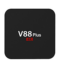 V88 pro Rockchip 3329 android 6.0 boîte de smart tv 2g ram 8g rom core hd quad